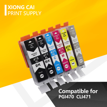 For Canon 470 471 PGI470 CLI471 PGI 470 CLI 471 Compatible Ink Cartridge for Canon PIXMA MG5740 MG6840 TS5040 TS6040 Printers