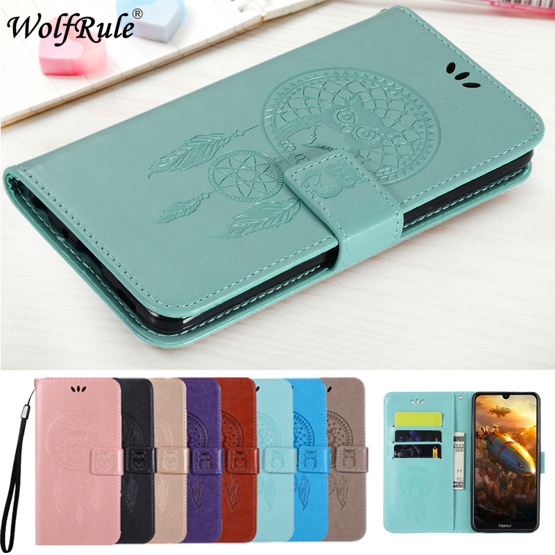 Wolfrule Case For Huawei Y6 2019 Case Owl Fashion Wallet Leather Phone Bag Case For Huawei Y6 2019 Cover For Huawei Honor 8A Pro