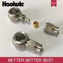 Haokule 스테인레스 스틸 스트레이트 밴조 10.2MM 호스 엔드 AN3 테프론 PTFE 호스 엔드 피팅 브레이크 시스템 피팅