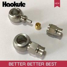Haokule raccord de système de freinage droit en acier inoxydable, AN3, bout de tuyau en téflon AN3, 10.2MM