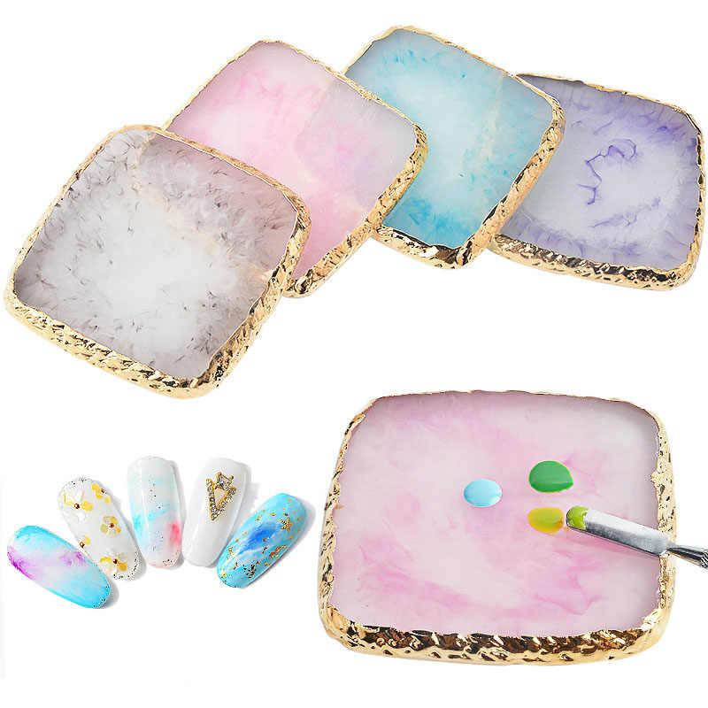 1 sztuk kamień żywiczny paleta kolorów sztuczne tipsy rysunek paleta kolorów paznokci do mieszania kolorów paznokci wyświetlacz Manicure polerowanie żel zbyt
