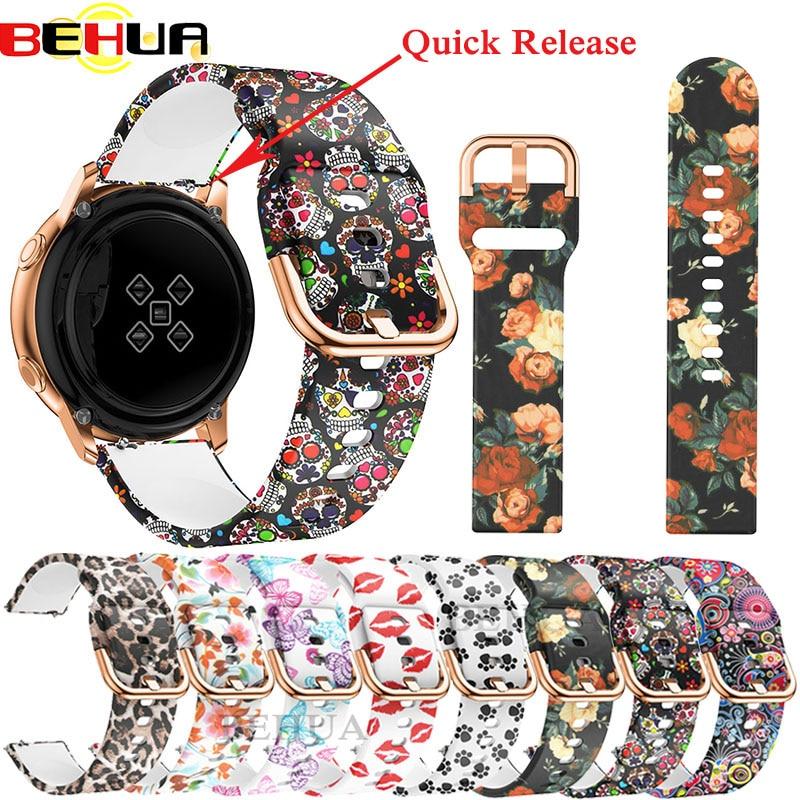 20mm Watchband Strap For Garmin Forerunner 645/Vivoactive 3/Vivomove HR Music Bracelet For Galaxy Active 2 Wrist Band Correa