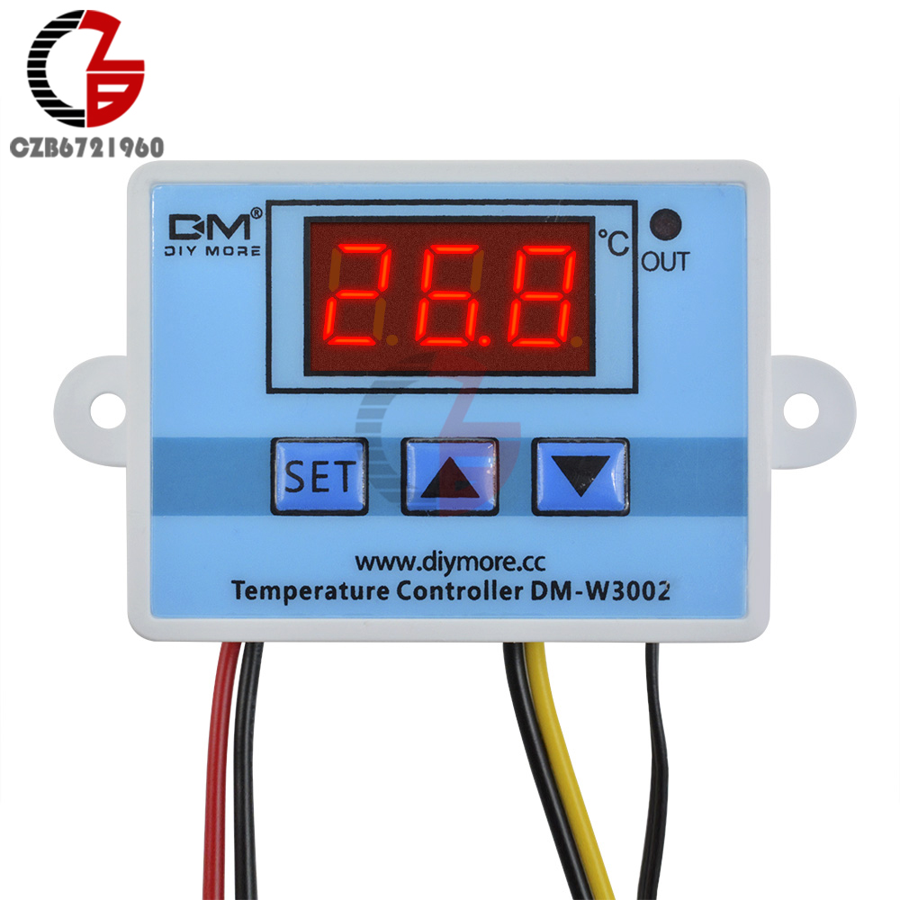 <font><b>W3002</b></font> LED Digital Thermostat Temperature Controller Regulator DC 12V Thermometer Indoor Homebrew Incubator Thermoregulator image