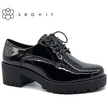 Женские фирменные туфли 2020 черные лакированные женские на