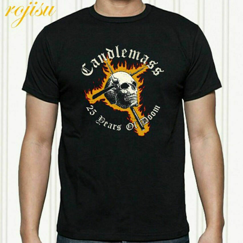 New CANDLEMASS Metal Rock Band Men/'s Black T-Shirt Size S-3XL *100/% cotton