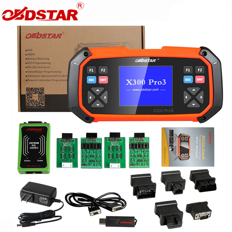 OBDSTAR X300 PRO3 Key Master Standard Configuration Immobiliser Odometer Adjustment EEPROM For Toyota G & H Chip All Keys Lost