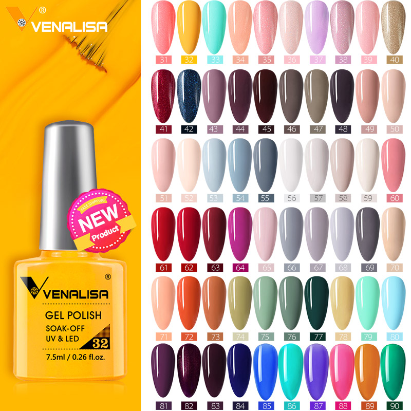Venalisa Fashion Bling 7.5 ML Soak Off UV Gel Nail Gel Polish Cosmetics Nail Art Manicure Nails Gel Polish Shellak Nail Varnish 1