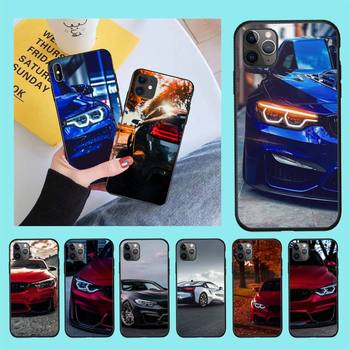 HPCHCJHM Blue Red Car for Bmw Newly Arrived Black Cell Phone Case for iPhone 11 pro XS MAX 8 7 6 6S Plus X 5S SE 2020 XR case image