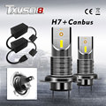 TXVSO8 2020 H7 LED Canbus Mini Lights for Car 55W/Bulb Universal Diode Lamps 6000K Super Bright Headlight for Automobile 26000LM