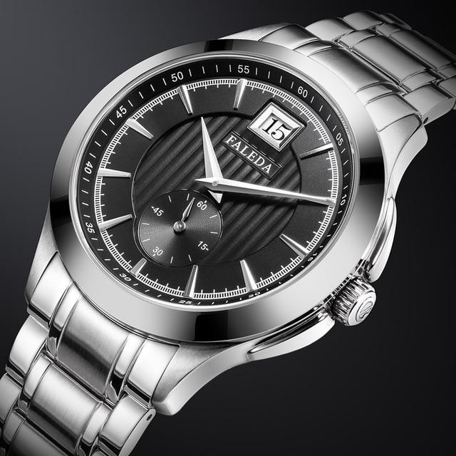 Relojes de negocios Retro para hombres, reloj de cuarzo de marca de lujo de zafiro, reloj impermeable de acero inoxidable informal para hombres, reloj Masculino
