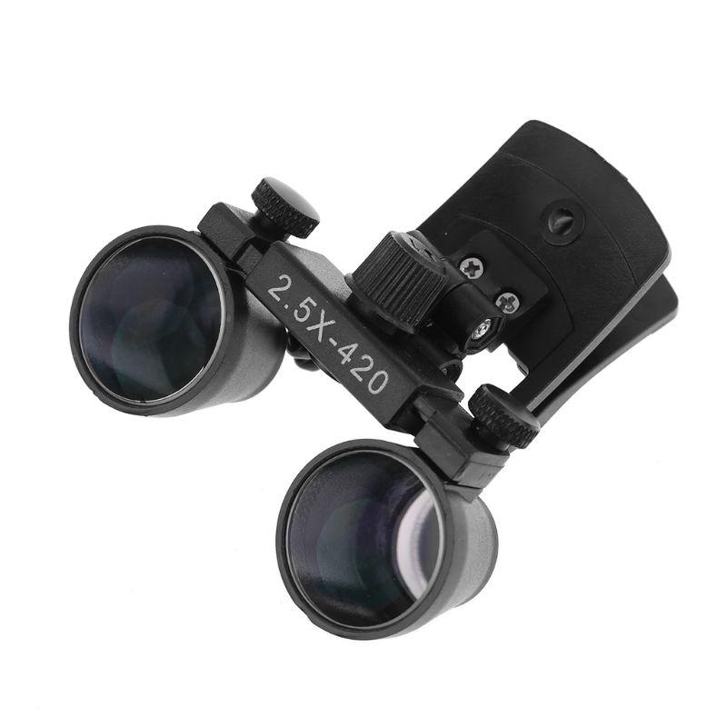 Dental Dentistry Clip 5X 2 Binocular 3 Loupe Magnifier Loupe 5X