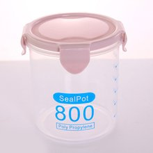 Round transparent sealed can Glass Jar Sealed Cans Kitchen Food Storage Bottle