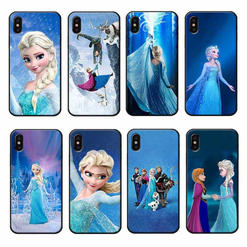 Cho Iphone X XS MAX XR 7 8 6 6S Plus 5 5S SE Trong Suốt Silicone Mềm Ốp Lưng Điện Thoại công Chúa Frozen