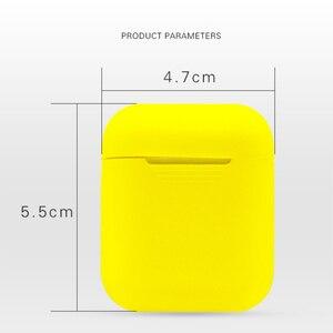Image 3 - Miękki futerał silikonowy słuchawki dla Apple Airpods przypadku Bluetooth bezprzewodowy słuchawki ochronne pudełko z przykrywką dla Air Pods ucha strąków torba