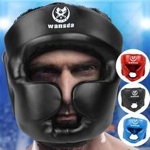 Взрослый закрытого типа для бокса защита головы против травм спарринг коробка каска защита головы для лица лба подбородка скулы