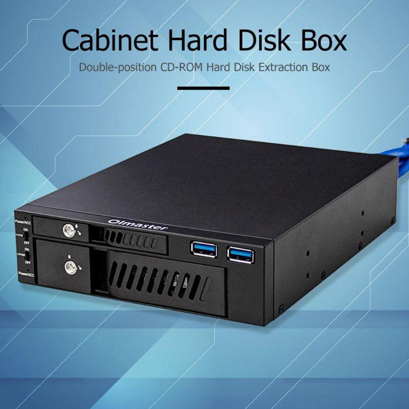 MR-6203 2,5/3,5 дюйма внутренний жесткий диск SSD Чехол коробка с двумя портами USB Оптический привод мобильный стеллаж для выставки товаров станции ...