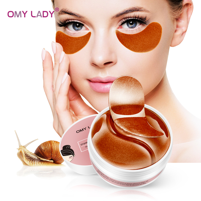 OMY LADY  60PCS Red Ginseng Essence Eye Patch Mask Collagen  Against Wrinkles Dark Circles Care Eyes Bags Pads Ageless Hydrogel