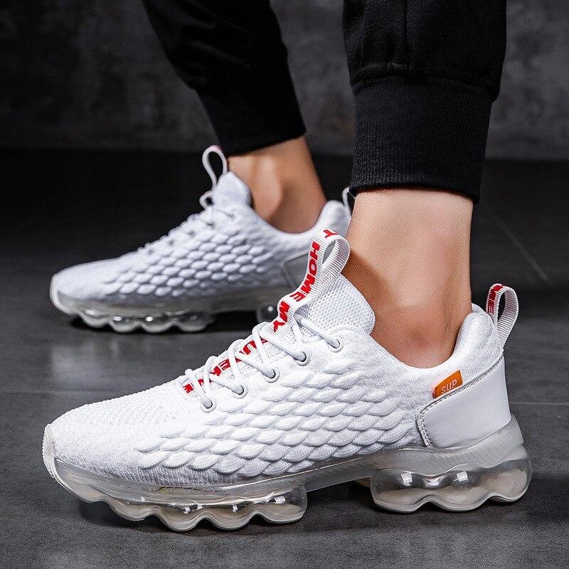 Chaussures de Tennis hommes coussin sneakersrespirant sport baskets homme chaussures de sport de haute qualité athlétique formateurs chaussures de marche grande taille