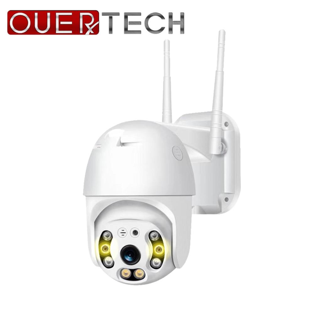 OUERTECH Outdoor Speed Dome Wifi Camera 1080P H.265 PTZ Wireless CCTV Camera Cloud-SD Slot ONVIF Home Surveillance IP Camera