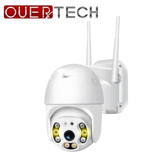 OUERTECH Outdoor Speed Dome Wifi Camera 1080P H.265 PTZ Wireless CCTV Camera Cloud SD Slot ONVIF Home Surveillance IP Camera
