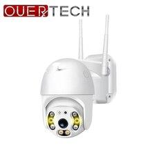 OUERTECH na świeżym powietrzu prędkości kamera Wifi 1080P H.265 PTZ bezprzewodowa kamera CCTV w chmurze gniazdo SD ONVIF domu obserwacja IP kamery