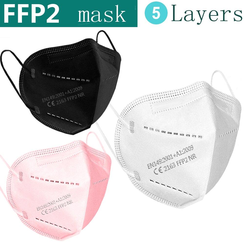 FFP2 mask KN95 masks face mask respirator maske protect mask dust mouth mask filtration Anti flu ffp2mask kn95mask black white