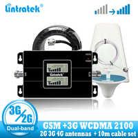 Lintratek rosja 2G GSM 900 3G 2100 wzmacniacz sygnału telefonii komórkowej komórkowy wzmacniacz GSM WCDMA UMTS 2100 2G 3G 4G antena sygnałowa