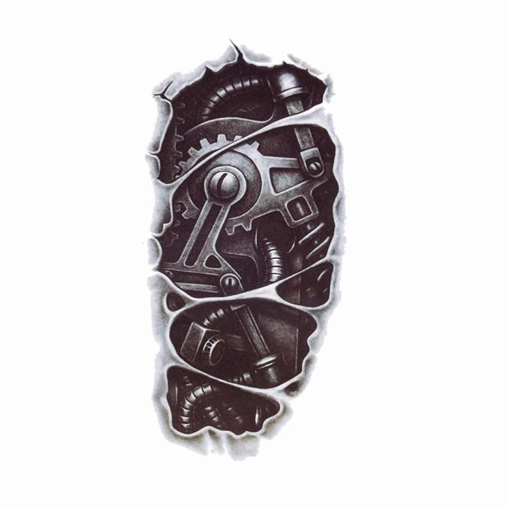 Adesivos de arte do corpo removível tatoo homem men power tattoo novo 1 pc 3d à prova d3d água robô braço tatuagem temporária