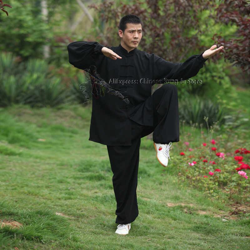 Tai Chi Uniform Katoen 5 Kleuren Hoge Kwaliteit Wushu Kung Fu Kleding Kids Volwassenen Vechtsporten Wing Chun Pak