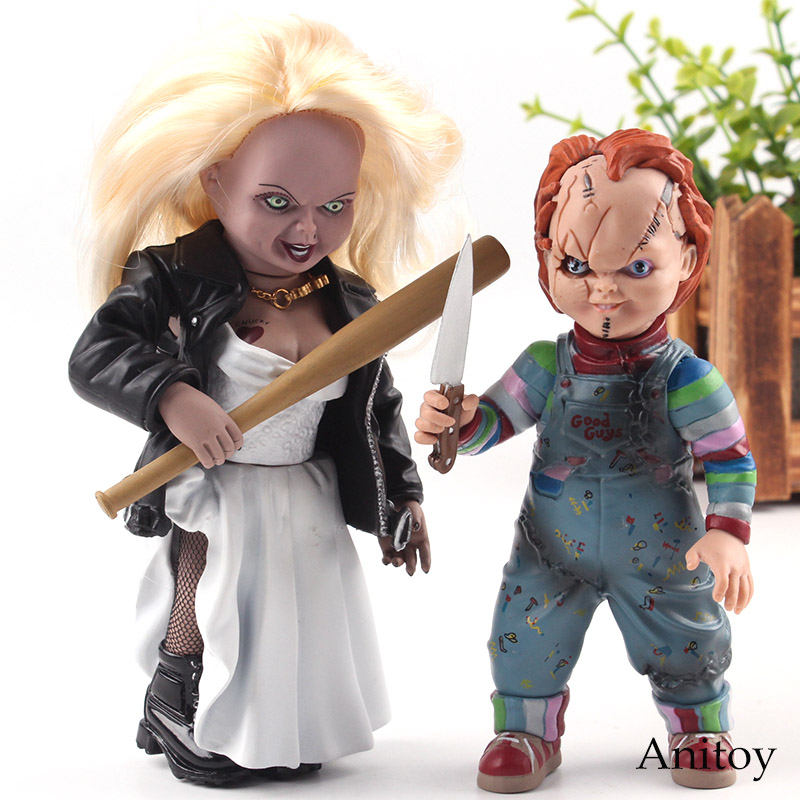 Bride of Chucky Killer Tiffany & Chucky Toy Doll PVC Horor Holloween Dolls Actions Figure Collection Model Hot Toys