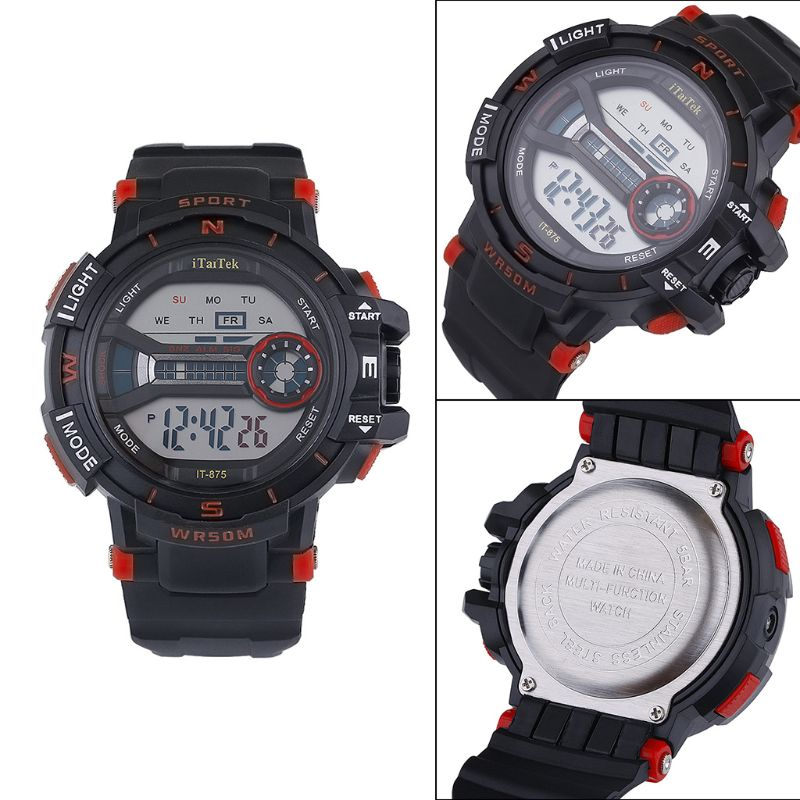 Fashion Men Women New Fashion Sports Multi-function Electronic Watch Couple Popular Waterproof Digital Watches 50PF