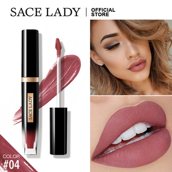 SACE LADY Tatoo Lipstick Long Lasting 12H Matte Lip Gloss Waterproof Make Up Nude Liquid Lip Stick Makeup Sexy Lipgloss Cosmetic недорого