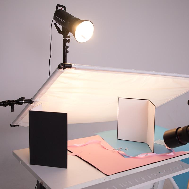 מוצרי טיפוח ובריאות מצלמה 58 * 42CM אביזר צילום מתקפל קרטון לבן שחור כסף רפלקטור ספוג נייר מחזיר אור עבה (3)