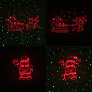 Image 4 - ALIEN Christmas Laser Projector Motion Red Theme Santa Elk Sled Static Green Dots Star Outdoor Waterproof Garden Tree Show Light