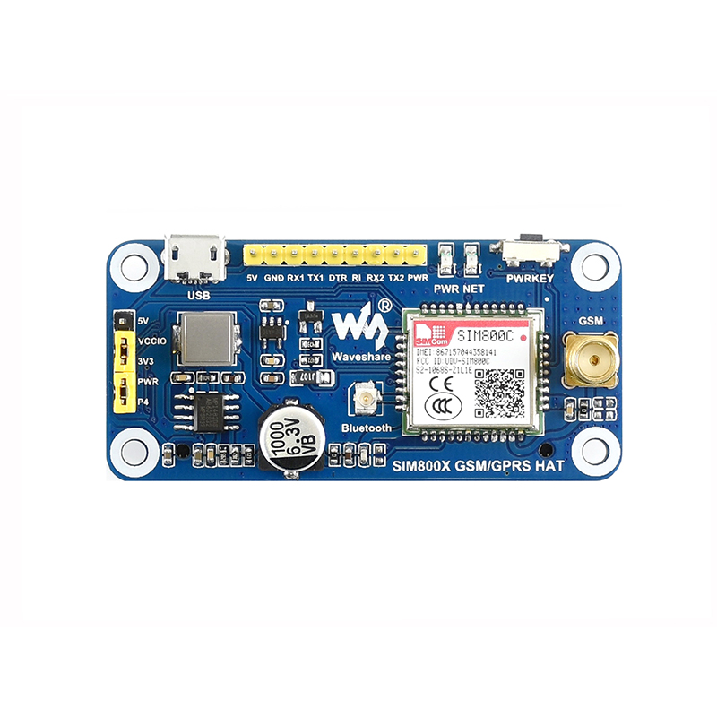 Raspberry Pi 4 GSM / GPRS Expansion Board SIM800C Bluetooth Transmission SMS Wireless Internet