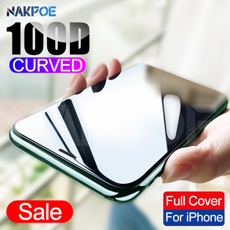 100D Protective Tempered Glass On The For IPhone 6 6s 7 8 Plus Glass Screen Protector For IPhone X XR XS MAX 11 Pro Max Glass