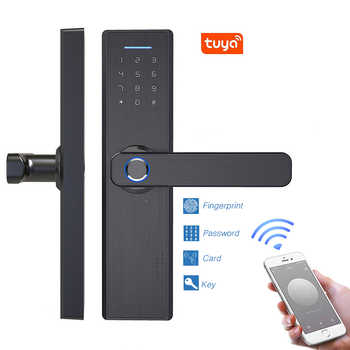 Smart Doorlock Security Biometric Fingerprint Intelligent Lock With Password RFID Card - DISCOUNT ITEM  55 OFF Security & Protection