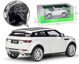 Image 4 - מגף דגם רכב 1:24 Scale Diecast רכב לנד רובר ריינג רובר Evoque SUV סימולטור מתכת סגסוגת צעצוע מכונית עבור ילד מתנת אוסף