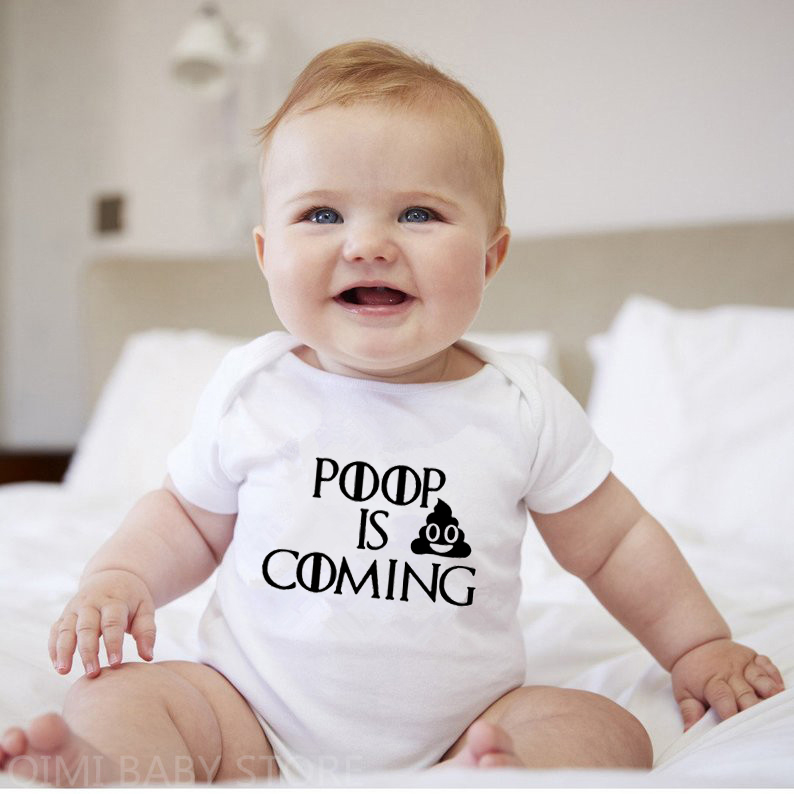 This Guy Pooped Today Unisex-Baby Newborn Short-Sleeve Bodysuit Rompers