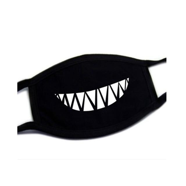 Black Cotton Dust Mask Moustache Smile Masks Mouth Teeth Mask Soft Cartoon High Quality Cartoon Expression Lady Men Marvel Masks 4
