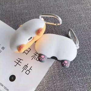 Image 2 - Per Apple AirPods 3D Cute Cartoon Cucciolo di Cane Divertente Shiba Inu Culo per Airpods 2 Sexy Gatto Maiale Butt auricolare Auricolare Della Copertura del Sacchetto