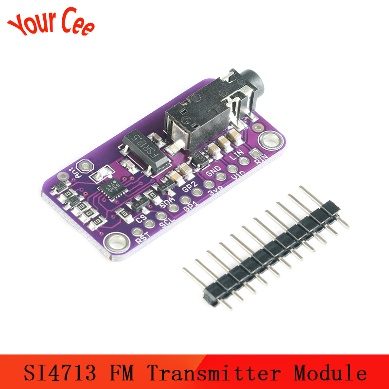 DC 3-5V Stereo FM Transmitter Module SI4713 Digital Wireless Radio MCU Module For Electronic DIY LED Micro Controller CJMCU-4713