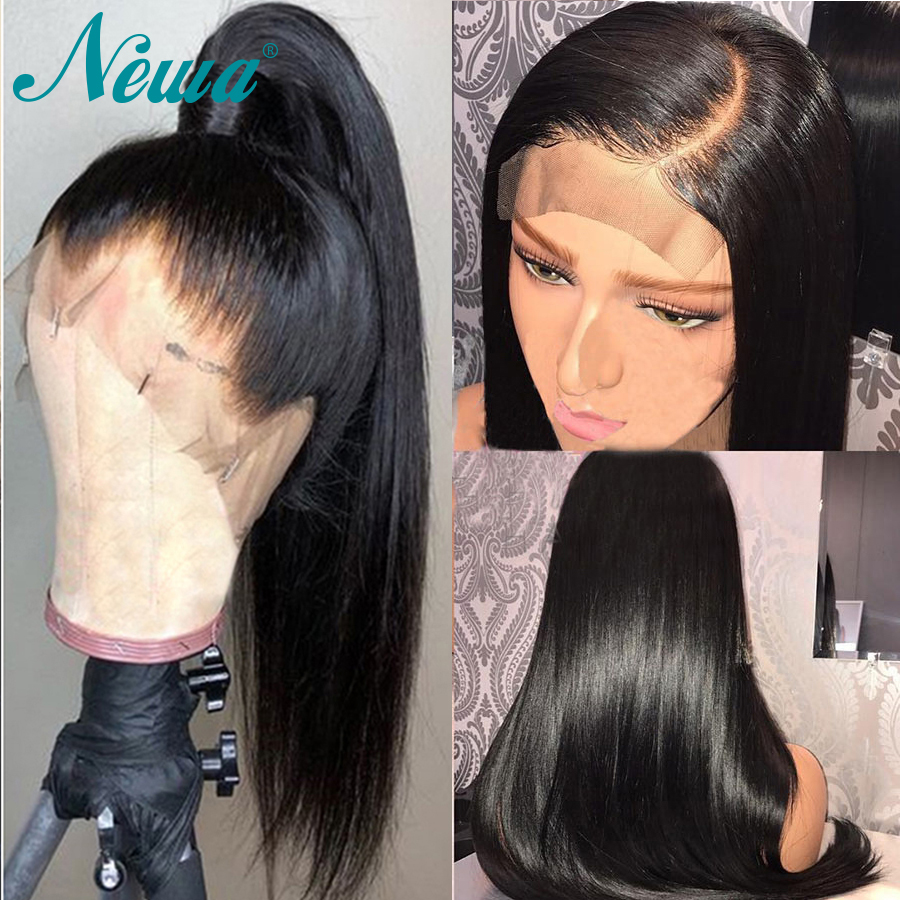 Newa Hair 13x6 Lace Front Human Hair Wigs Pre Plucked With Baby Hair Straight Lace Front Wig Brazilian Remy Wigs For Black Women