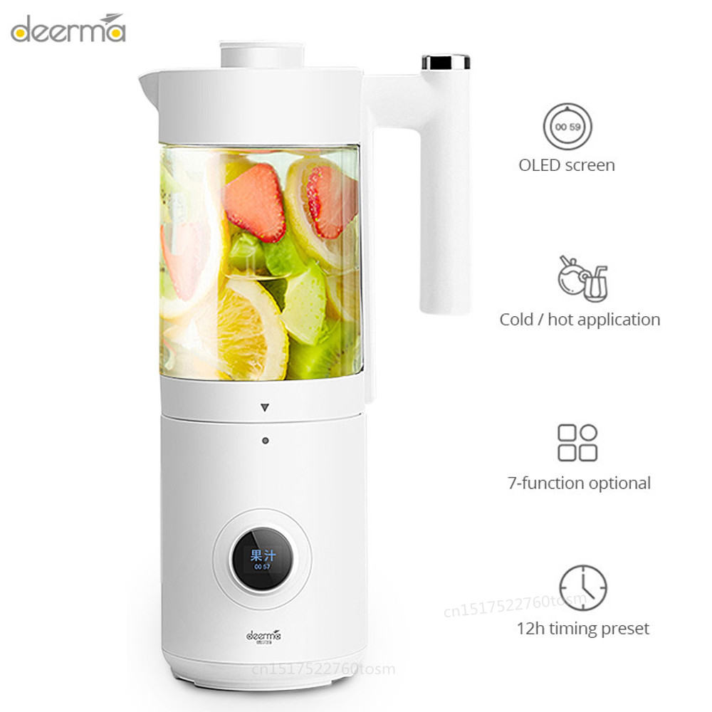 Deerma NU100 400ml Electric Blender Juicer 7 Function 12h Timing Preset OLED Screen USB Cut Mixer Juce Cup Cutter Juce extractor