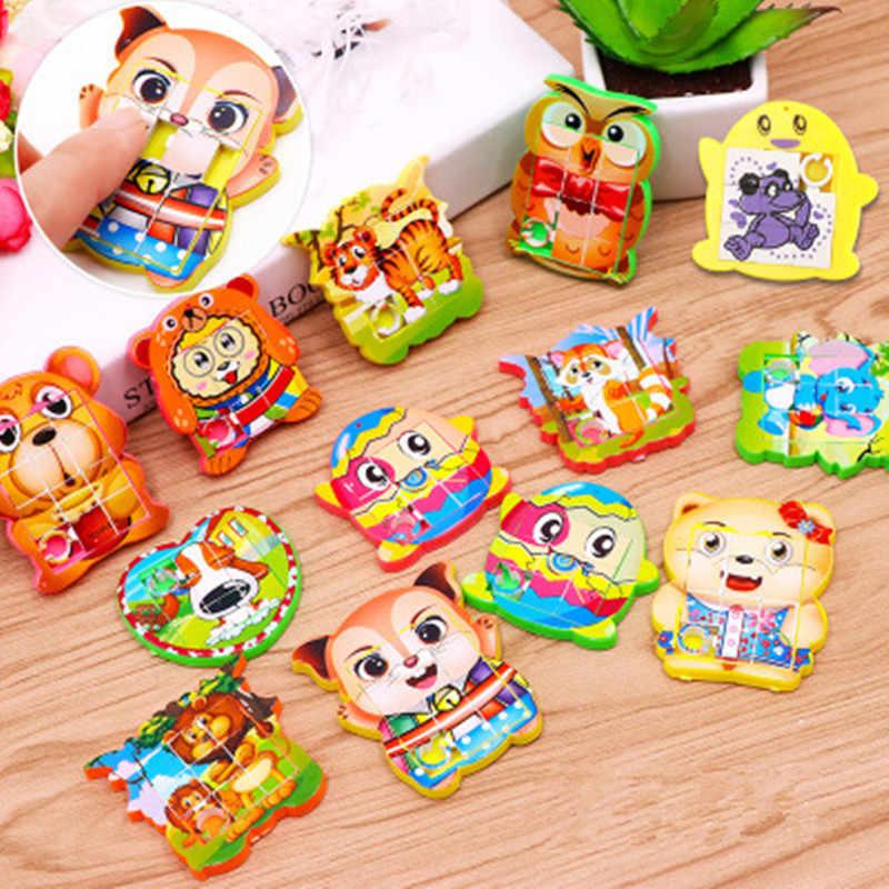 10Pcs מיני לנוע פאזל צעצועי מסיבת יום הולדת טובות מתנה לילדים גודי תיק חומרי מילוי קרנבל פרסים Pinata Stuffers