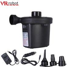 VR robot 12V AC 110V Electric Air Pump Potable Car Air Compressor with 3 Nozzles Boat Moto Air Inflator For Outdoor цена 2017