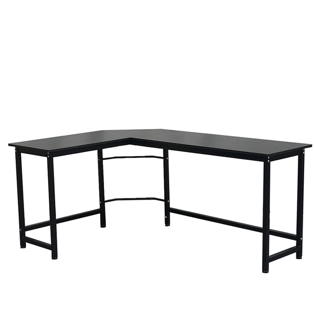 L-Shaped Desktop Computer Desk Study Table Office Table Easy to Assemble Can Be Used in home and office Black 3