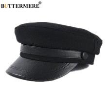Женская шерстяная шапка лоскут из ПУ кожи