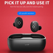 Bluetooth Headphones Bluetooth 5.0 Wireless Earphones With Charge Box Sports Headset 3D stereo With Dual Microphone ouhaobin popular bluetooth headphone black 3 0 stereo bluetooth wireless headset headphones with call mic microphone charge sep4