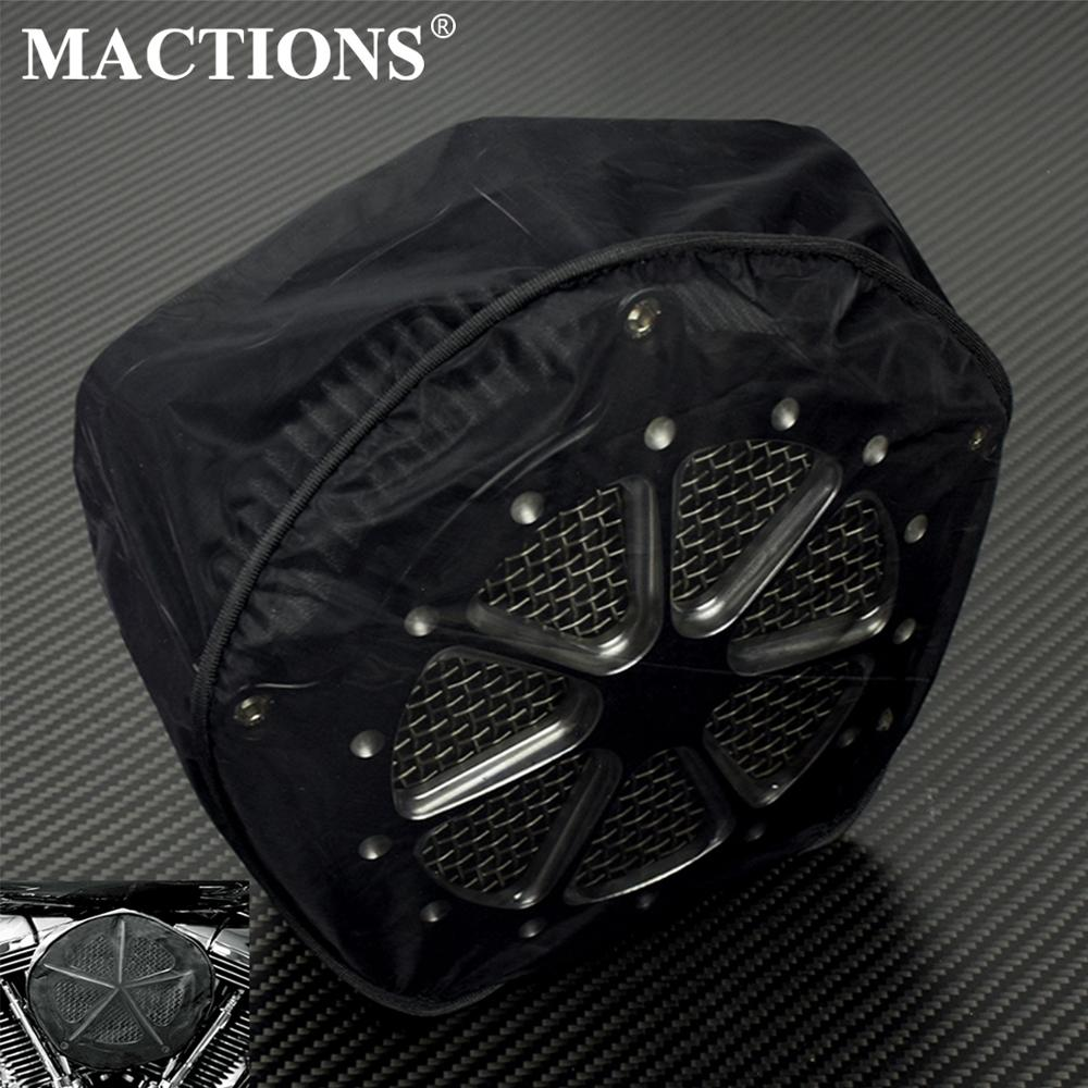 Motorcycle Breather Rain Sock Waterproof Air Filter Cover For Harley Dyna Softail Touring XL FLHX